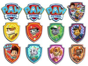 Edible Paw Patrol Shields All Dogs Icing Great Paw Ty Cake