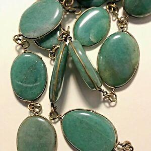 Antique-Medium-Green-Jadeite-Jade-20-Cabochon-Necklace-26-034-Long-Flawless-BURMA