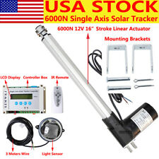 Electronic 12v Solar Track Tracker 6000n 16 Linear Actuator Lcd Controller El