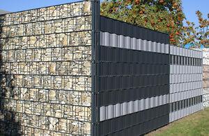sichtschutzstreifen anthrazit doppelstabmatten zaun windschutz sichtschutz neu ebay. Black Bedroom Furniture Sets. Home Design Ideas