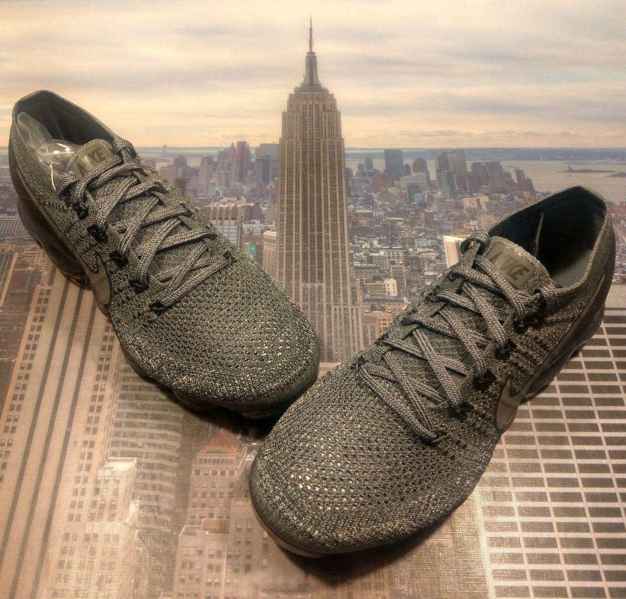 Nike NikeLab Womens Air VaporMax Flyknit Cool Grey Dark Grey Size 10 899472 005