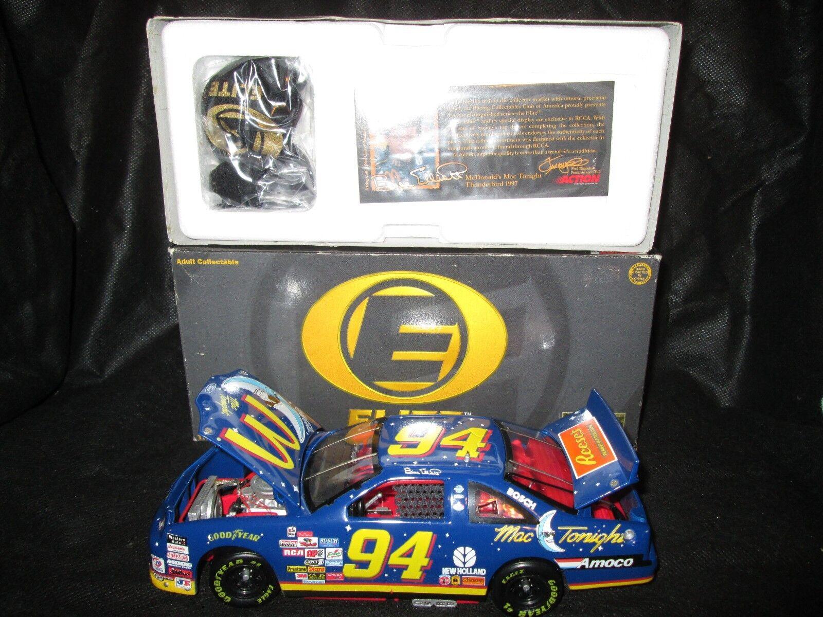Racing Collectables Club of America Elite NASCAR 1 24 Bill Elliott  94 mcdo mac ce soir 1997 FORD 1 2500