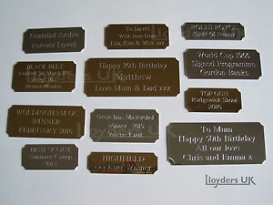Cut Corner Engraved Plaques Plates For Awards Pictures Frames
