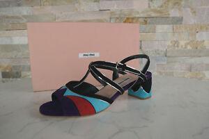 Sandales Uvp Chaussures Goat Luxury Nouveau Gr Multicolor 37 490 Miu n1F48t