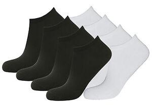 Details zu Herren Sneaker Socken Baumwoll Sportsocken Füsslinge bis Größe 50 schwarz & weiß