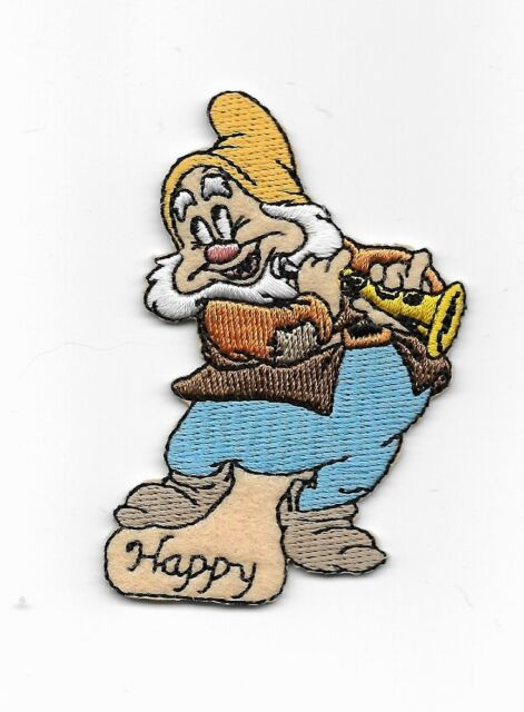 Disney Happy Snow White Dwarf Embroidered Iron On Patch 931606