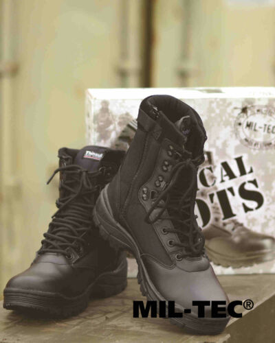 Black Mil Boots M tactiques Zipper ykk tec Bottes xCnqzwv8q