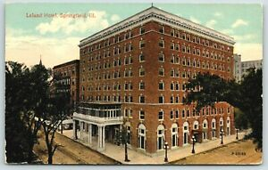 Springfield-IL-Leland-Hotel-Sixth-Avenue-Capitol-Porch-on-Porte-Cochere-1910