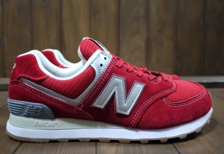 New Balance 574 Sneakers Classic Men's Size 12 Red/Silver ML574XRT Made In USA