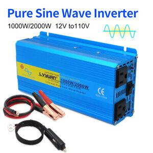 1000w-2000w-pure-sine-wave-power-inverter-DC-12v-to-AC-110v-120v-car-converter