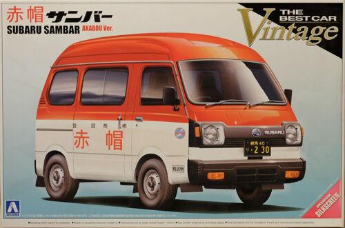 Subaru Sambar Akabou 1:24 Model Kit Bausatz Aoshima 004685
