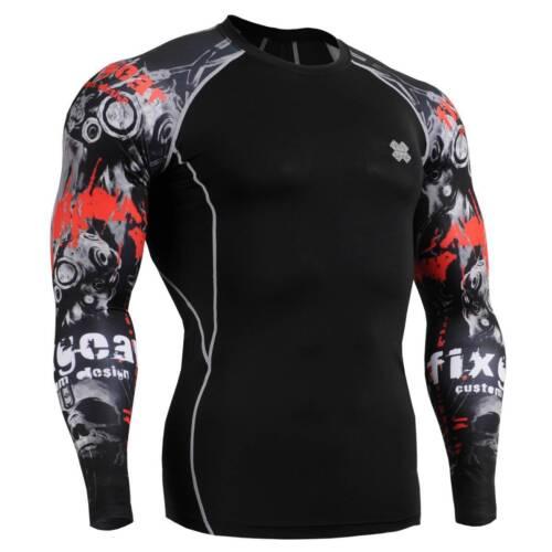 Fitness Collants Mma chemises Cpd Workout sous Gym les peau b30 Fixgear de compression de FnFTOrU