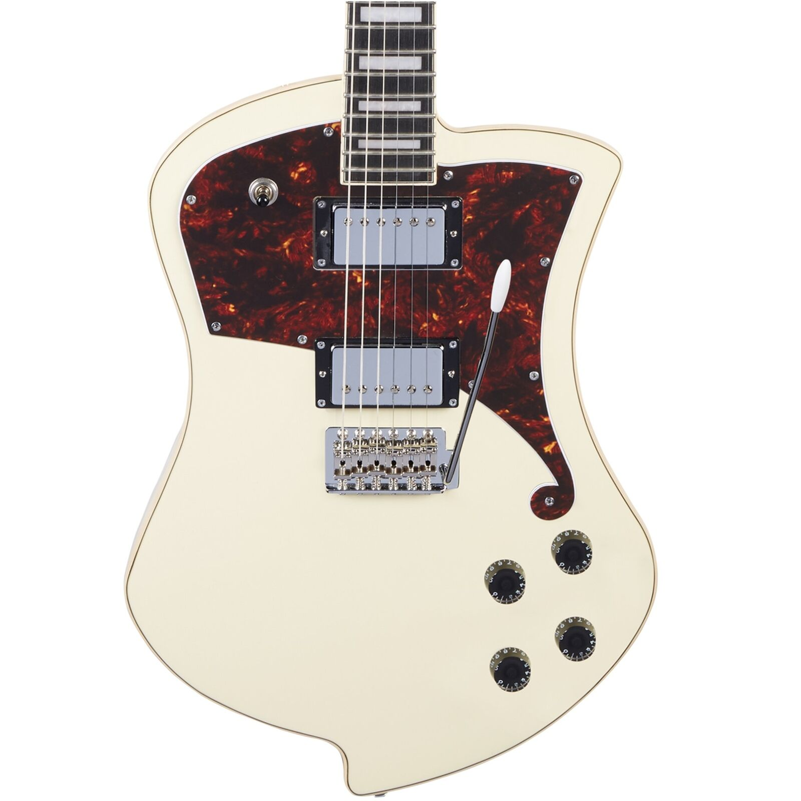 D'Angelico Premier Series Ludlow Electric Guitar w Bag-Vintage Weiß