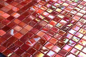Glas Glasmosaik Rot Rosa Perlmutt Mosaikfliesen Mosaik Fliesen 1