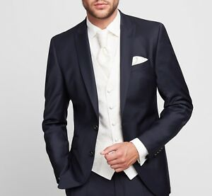 dbcf7736fe Dettagli su Abito Digel Elegante Slim Fit completo di Gilet Cravatta e  Pochette coordinati