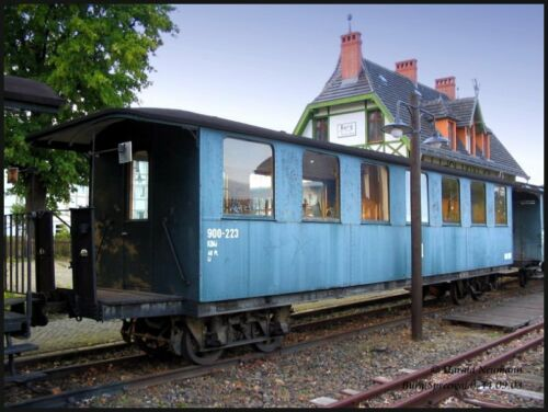 blau Train neuer Original 4-achsiger Personenwagen Spur G Günstigvariante
