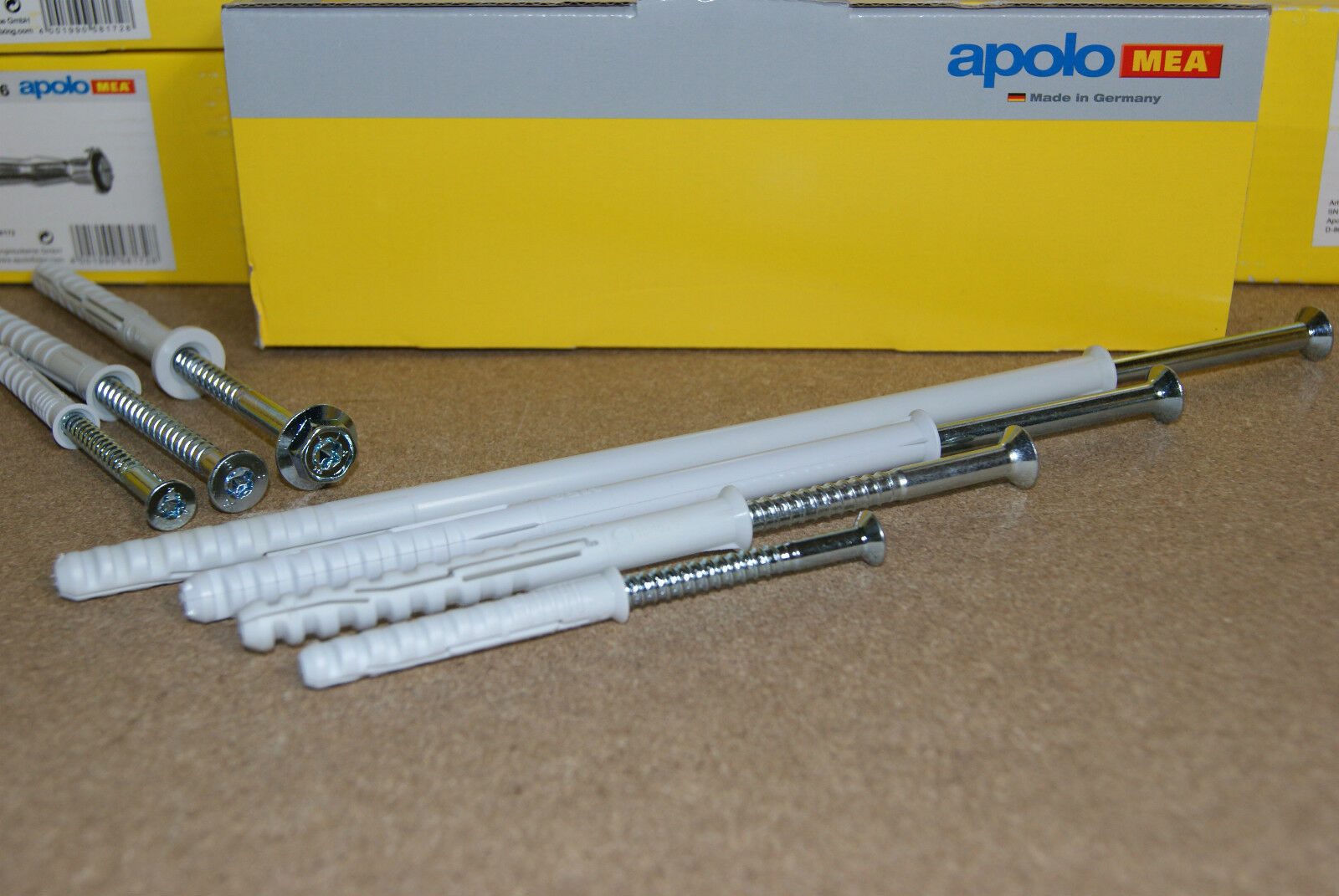 Apolo MEA Rahmendübel Dübel + Schraube R MFR HBR Fassadendübel Langschaftdübel