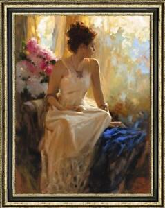 Hand-painted Original Oil painting art Impressionism girl on Canvas 24X36""