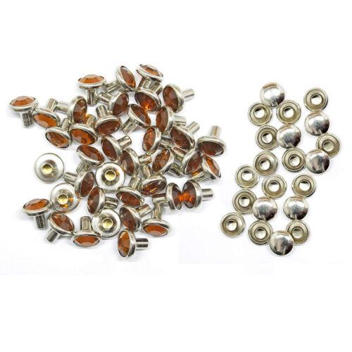 Remache Cristales Diamante 8mm para Decoración hágalo usted mismo Shoes ropa Leathercraft Bolsas