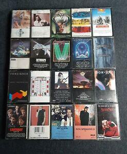Lot-Of-20-Vintage-80-039-s-Cassette-Tapes-Rock-Pop