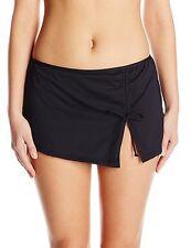 Profile by Gottex Women's Plus Size Black Tutti Frutti Skirted Bikini Bottom, 24
