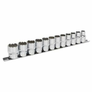 Sealey-AK2684-Socket-Set-12pc-1-2-034-Sq-Drive-12pt-WallDrive-metricas