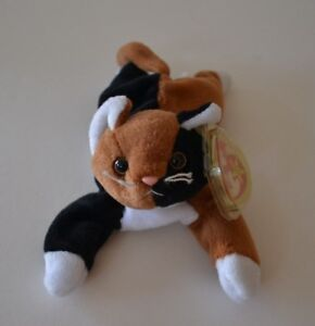 Image is loading Ty-Beanie-Babies-Baby-Chip-Plush-Calico-Cat- cc61be812b1a
