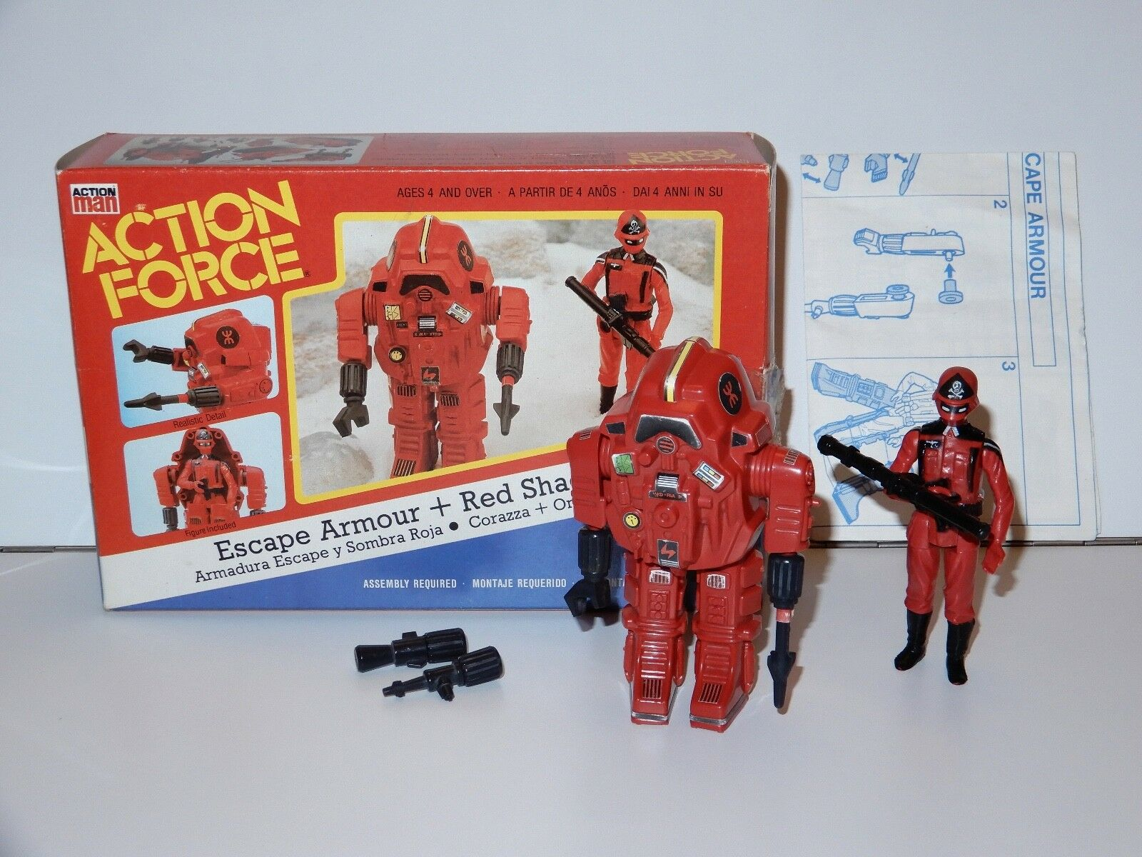1983 GI JOE / ACTION FORCE ROT SHADOWS ESCAPE ARMOUR 100% COMPLETE IN BOX MIB