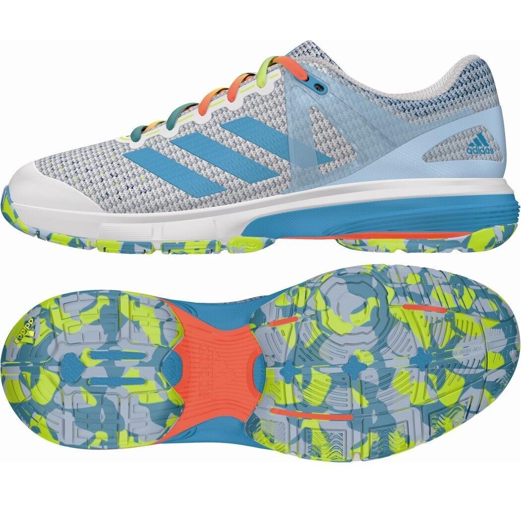 Adidas Adidas Adidas Court Stabil 13 Damen Handballschuhe Sprint Web weiß hellblau gelb AQ6124 af3bdd