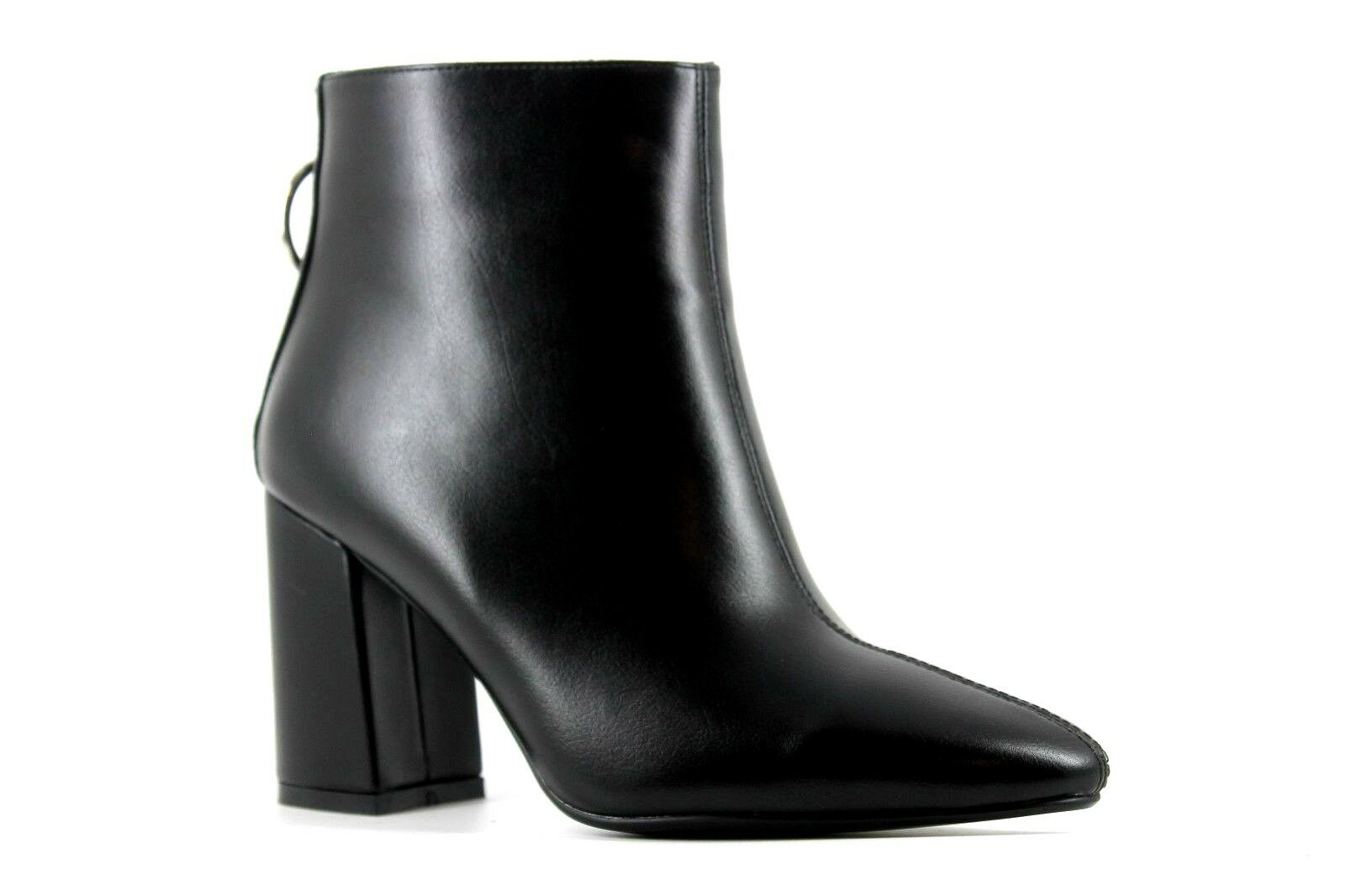 4th Reckless Womens UK 6 EU 39 Black Rear Zip Pointed Toe High Heel Ankle Boots