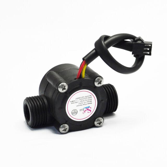 Water flow sensor flowmeter Hall flow sensor Water control 1-30L/min 2.0MPa NEW