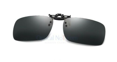 Premium Clip-On Flip-Up UV Sunglasses Polarised  Lenses Hard Case *H845* No1