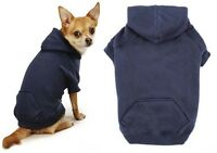 Navy Blue Dog Hoodies High Quality Cotton Blend Kangaroo Pocket Dogs Sweatshirt