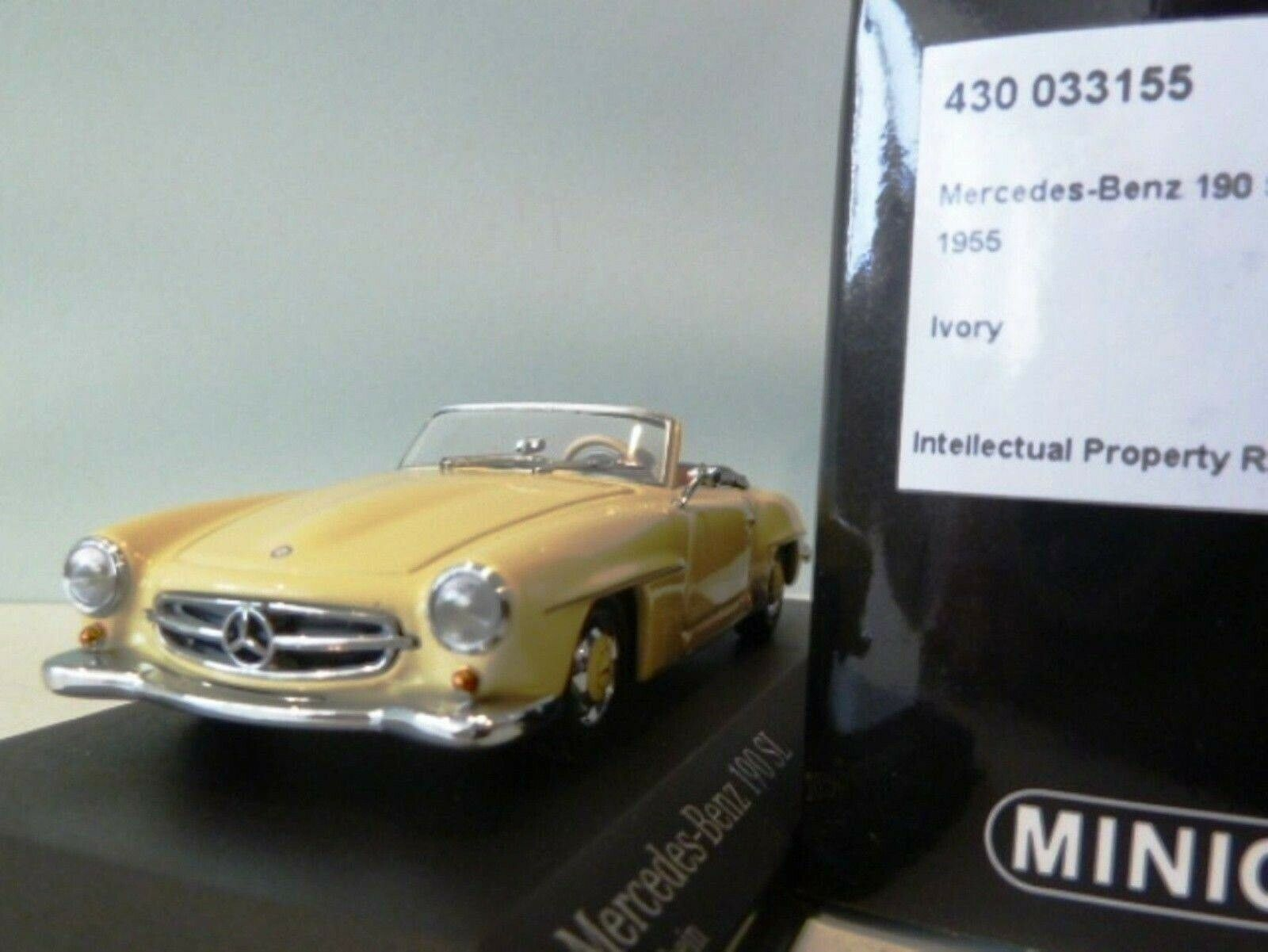 Wow extrêmement rare MERCEDES W121 190SL cabriolet 1955 Ivoire Rouge 1 43 Minichamps