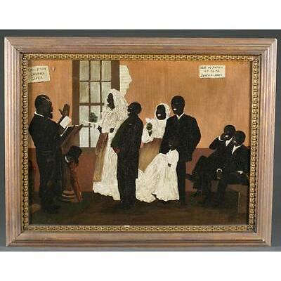 4. Emil Palmer, Black Wedding at Blackville, SC. O/C. Lot 4