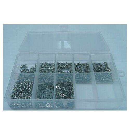 M2 Innensechskantschrauben Sortiment 500tlg Edelstahl A2 ISO7380