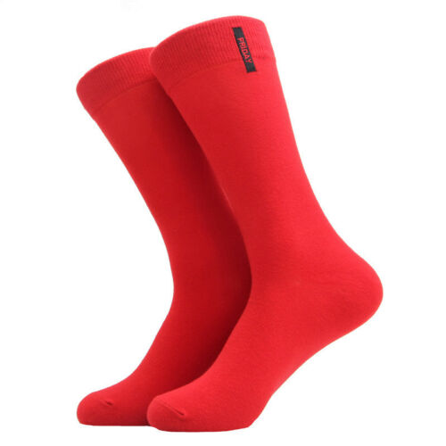 NEW Mens Cotton Socks Solid Color British Style Casual Weekly Dress Work Socks