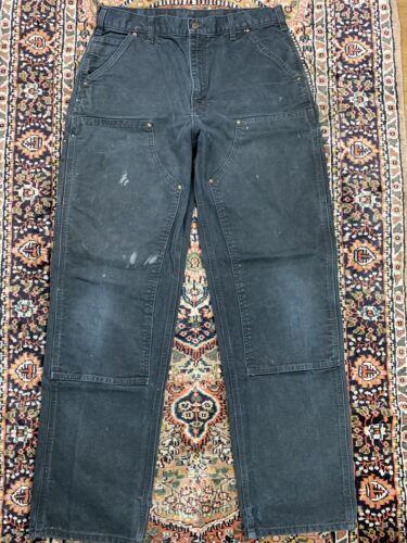 Vtg Carhartt Double Knee Work Pants Size 34x34 Wor