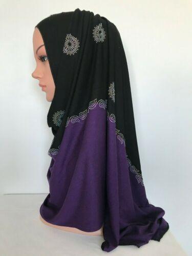 Premium Cotton Jersey Scarf Hijab Muslim Head cover Rectangle 170x 60cm