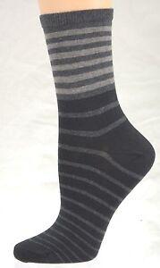 Sierra-Socks-Striped-Cotton-Women-039-s-Socks-W83