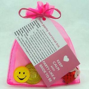 Bride To Be Hen Party Survival Kit Novelty Fun
