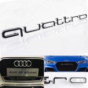 BLACK-QUATTRO-EMBLEM-GRILL-BADGE-LOGO-For-AUDI-RS3-RS4-RS7-A1-A3-A4-A5-S3-S4-Q7