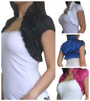 Ladies Top Shrug Womens Bolero Cardigan Jacket Tops Size 8 10 12 14 16 18
