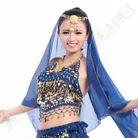 Tribal Belly Dance Costume Choli Top Skirt Beads Bells Free Shipping 8 color