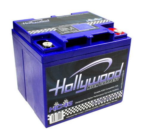 Hollywood HC45 AGM Car Hifi Batterie Zusatzbatterie Auto 12V 45Ah Stützbatterie!