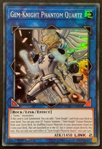 Gem-Knight Phantom QuartzEXFO-EN092Super Rare1st EditionYuGiOh