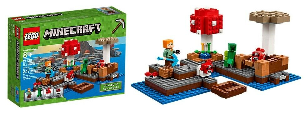 LEGO 21129 Minecraft-Die Pilzinsel-The Mushroom Island-Alex-Creeper-Set-OVP-Neu