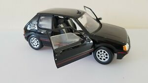 Black-1-18-PEUGEOT-205-GTI-solido-1-18-great-condition-FREE-POST