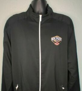 Adidas Mens XL+2 Track Jacket New Orleans Pelicans Full Zip NBA Basketball Black