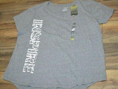 Tek Gear T-Shirt Top DryTek Plum Mereng Short Sleeve V Neck Tee Shirt Workout